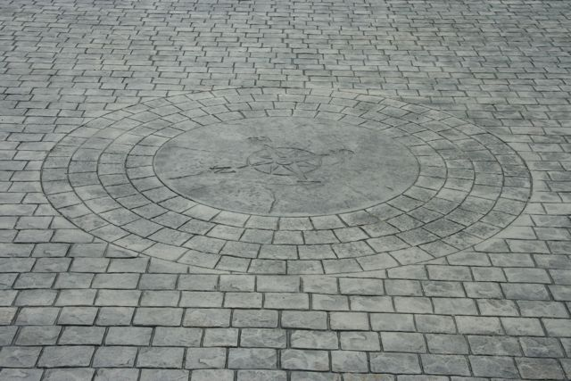 cobble stone with radius compass