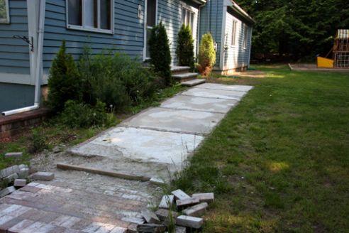 sidewalk before
